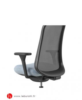 Fauteuil Lino structure Black Sans support lombaire poli Herman Miller Le Buro HL