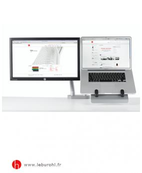 Support Flo pour ordinateur portable et écran plat Herman Miller Le Buro HL 1