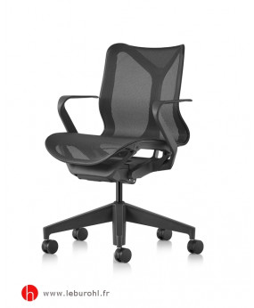 Cosm graphite bas dossier accoudoirs fixes Herman Miller Le Buro HL 1