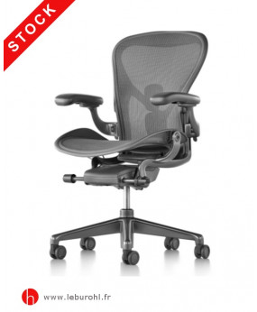 Aeron C Graphite Leather Stock
