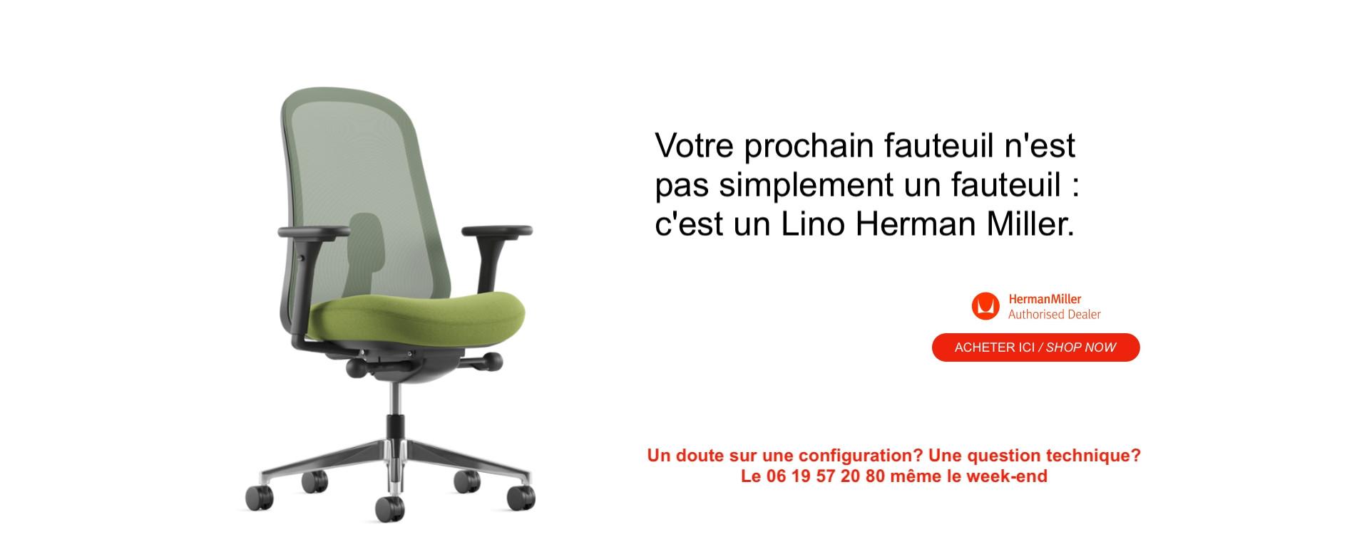 Votre prochain fauteuil est un Lino Herman Miller