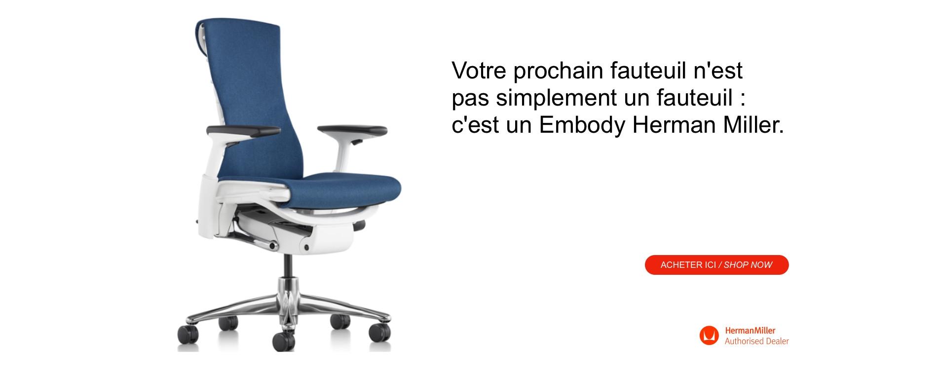 Votre prochain fauteuil est un Embody Herman Miller