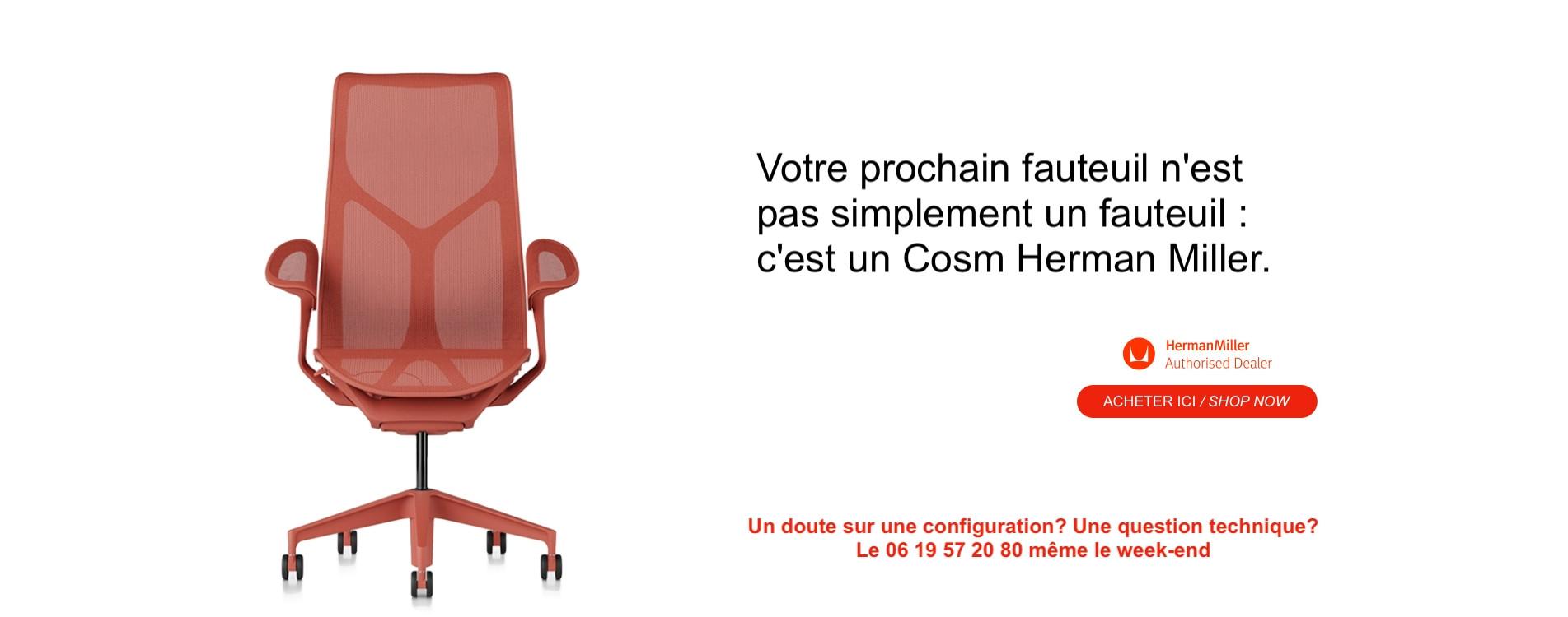 Votre prochain fauteuil est un Cosm Herman Miller