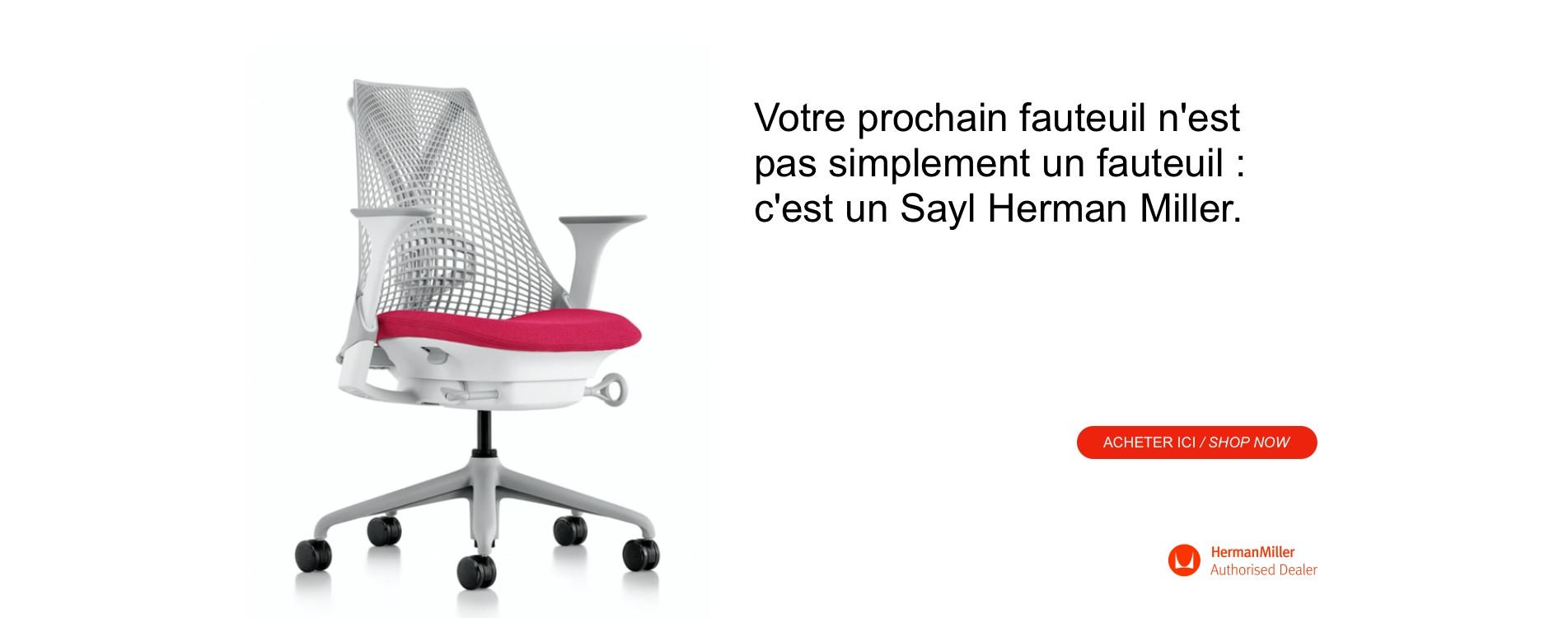 Votre prochain fauteuil est un Sayl Herman Miller